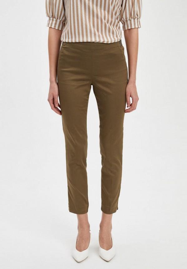 женские повседневные брюки defacto, хаки