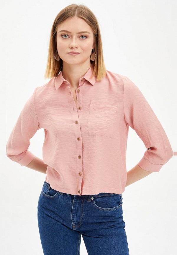 женская блузка defacto, розовая