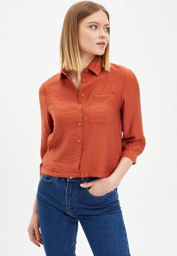 женская блузка defacto, оранжевая