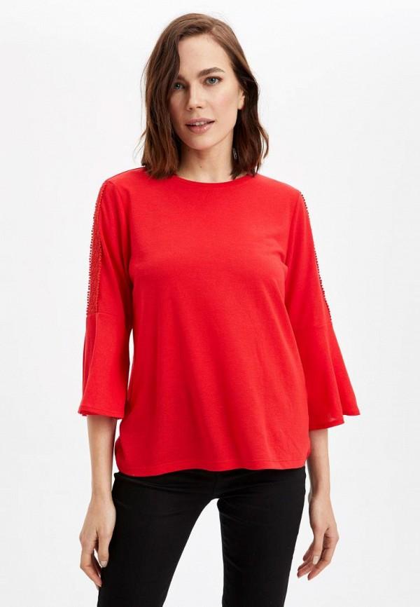 женская блузка defacto, красная