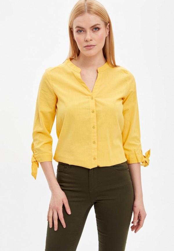 женская блузка defacto, желтая