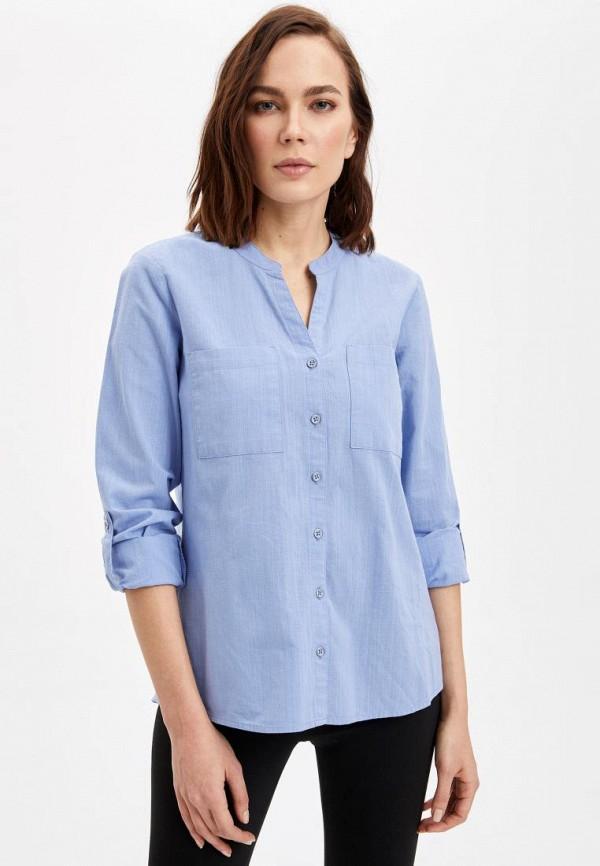 женская блузка defacto, голубая