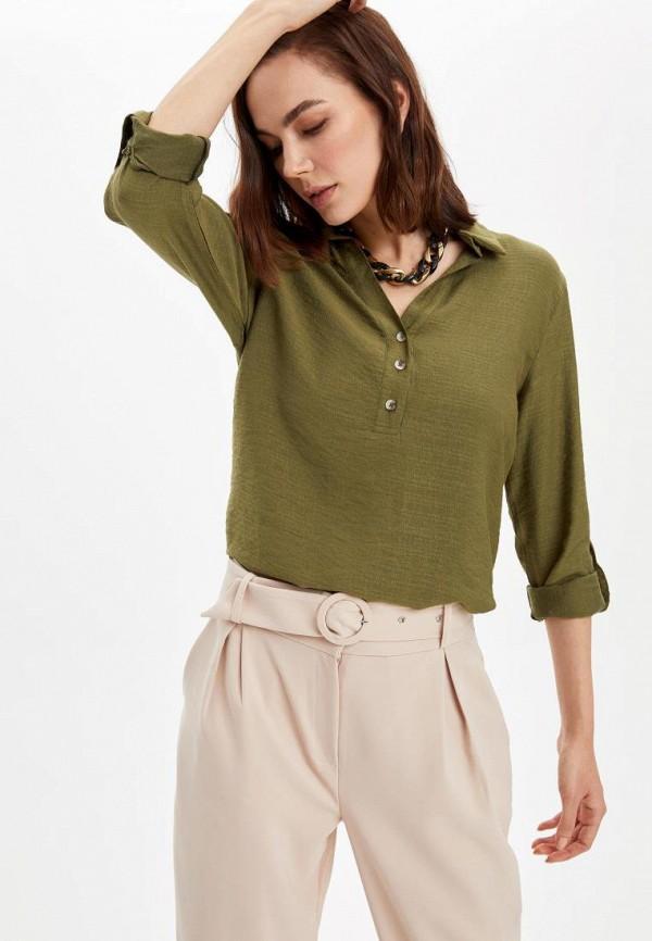женская блузка defacto, зеленая