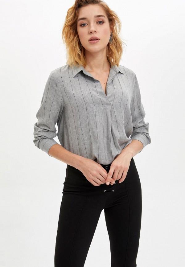 женская блузка defacto, серая