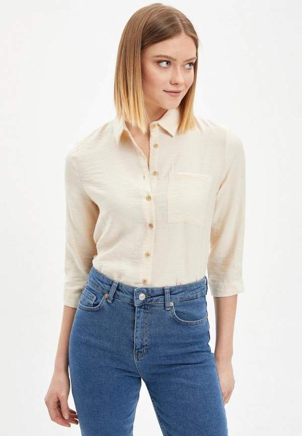 женская блузка defacto, бежевая