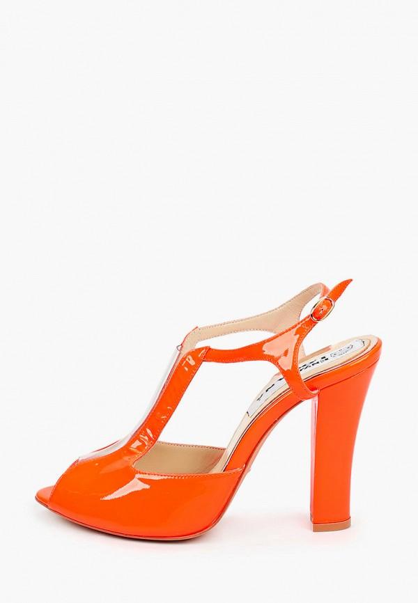 женские босоножки enzo logana, оранжевые