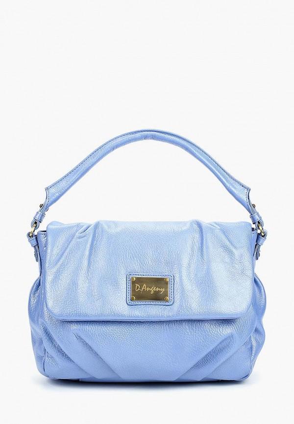 женская сумка с ручками d.angeny, голубая