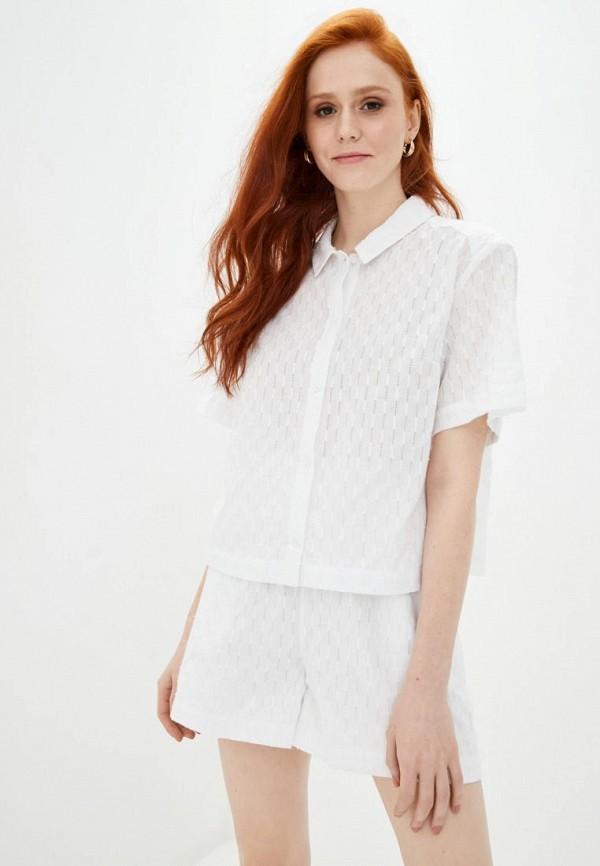женская рубашка с коротким рукавом week, белая