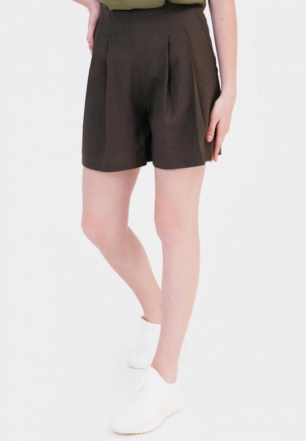 женские повседневные шорты bessa, коричневые