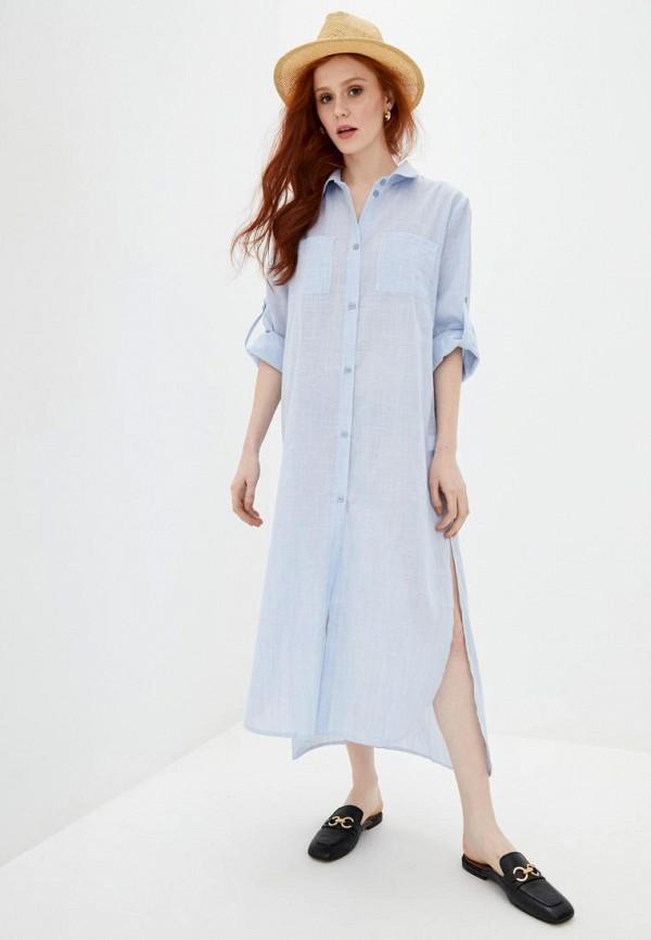 женское платье ricamare, голубое