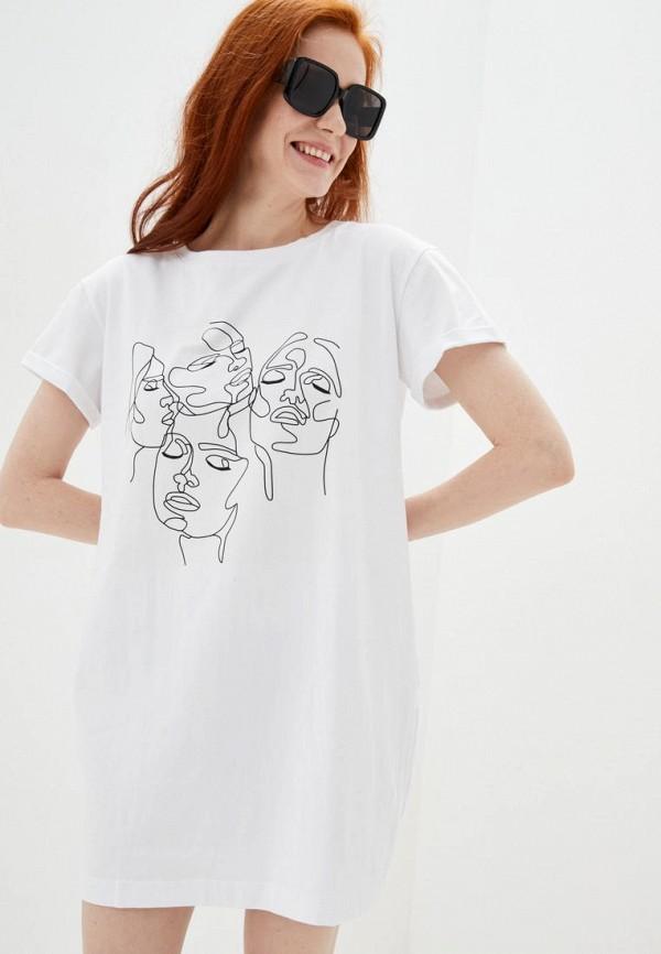 женское платье ricamare, белое