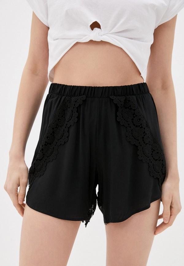 женские повседневные шорты tezenis, черные