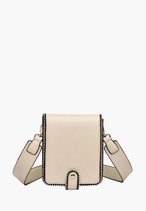 женская сумка через плечо dda, бежевая