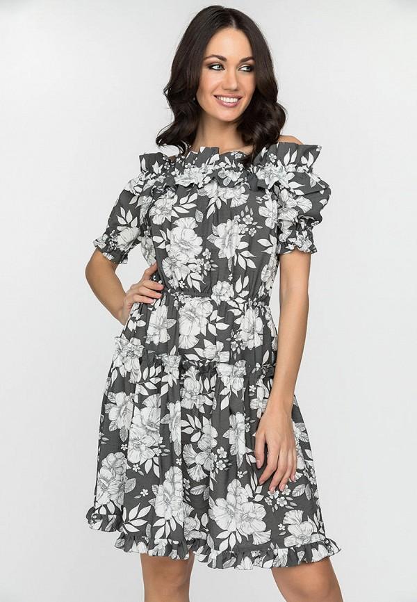 женское платье gloss, серое