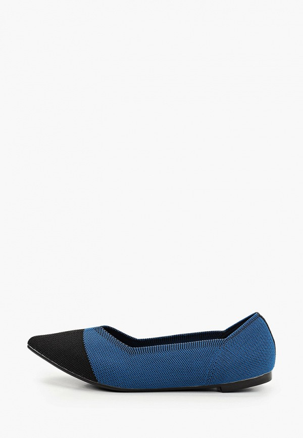 женские балетки dasti, синие