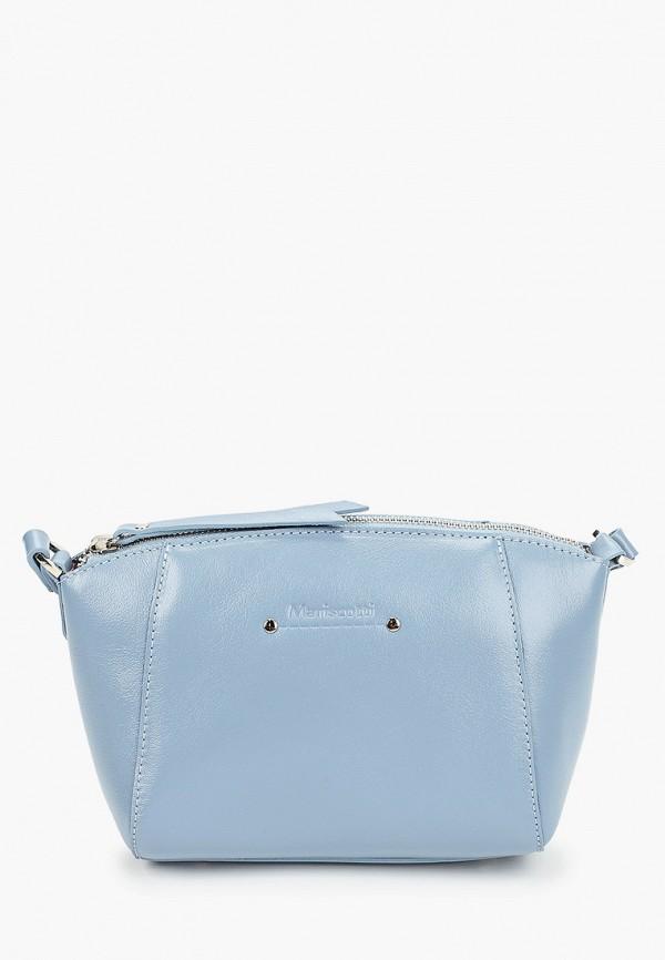 женская сумка через плечо franchesco mariscotti, голубая