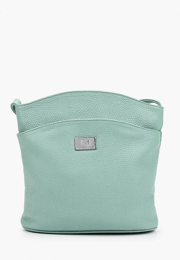 женская сумка через плечо franchesco mariscotti, бирюзовая