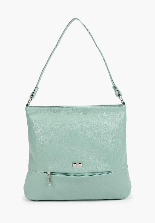 женская сумка с ручками franchesco mariscotti, бирюзовая