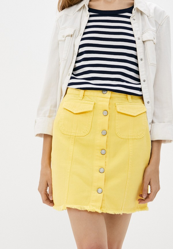 женская прямые юбка fadjo, желтая