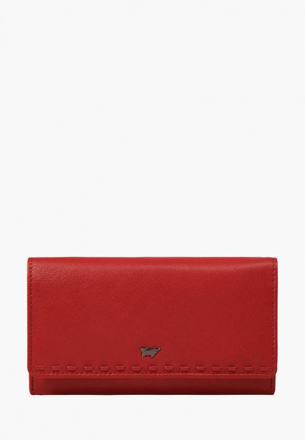 женский кошелёк braun bueffel, красный