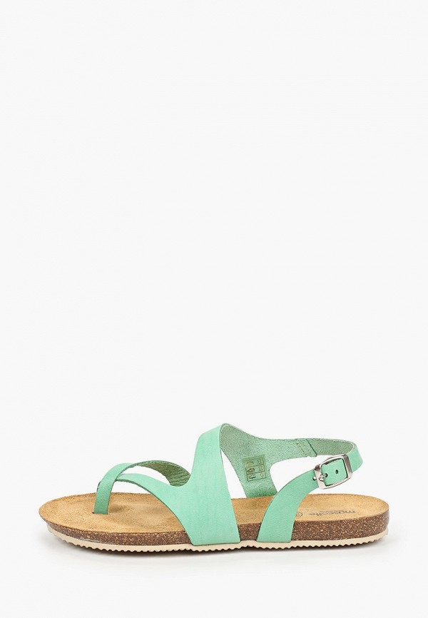 женские сандалии mascotte, бирюзовые