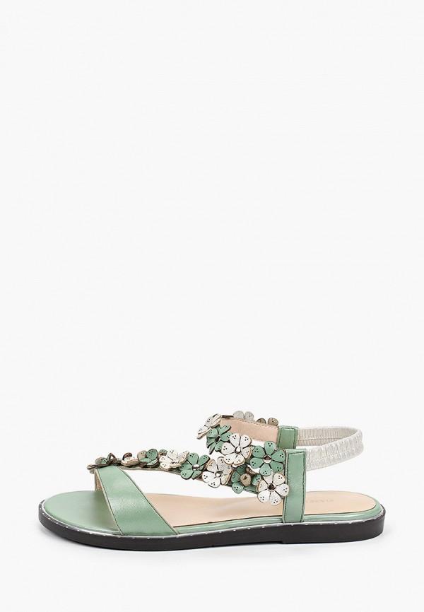 женские сандалии mascotte, зеленые