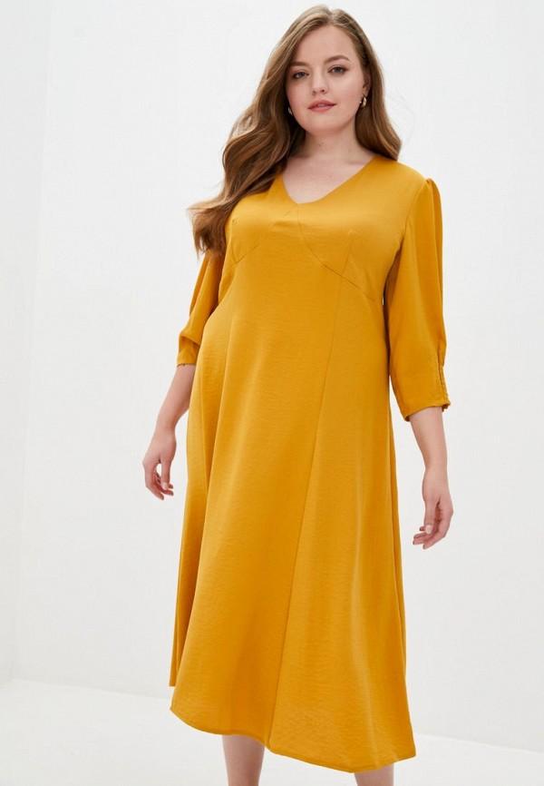женское повседневные платье jhiva, желтое