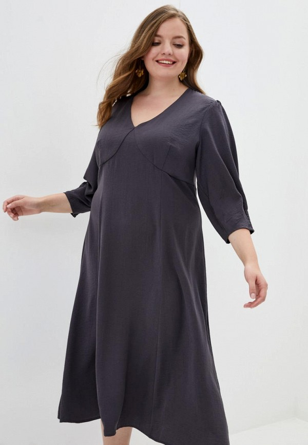 женское повседневные платье jhiva, серое