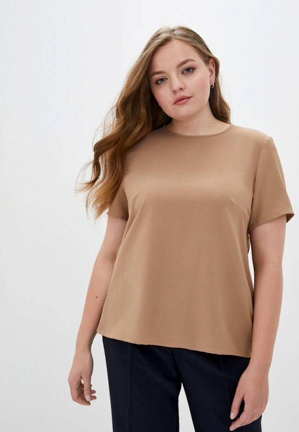 женская блузка jhiva, коричневая