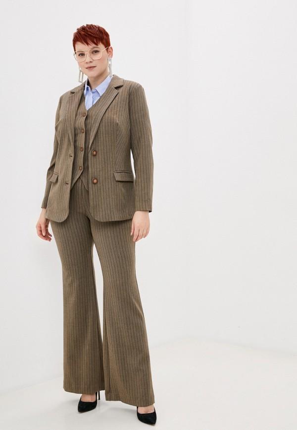 женский классические костюм bezko, коричневый