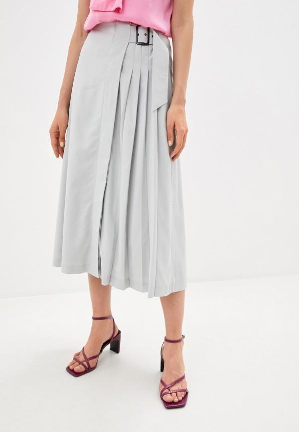 женская юбка-трапеции climona, серая