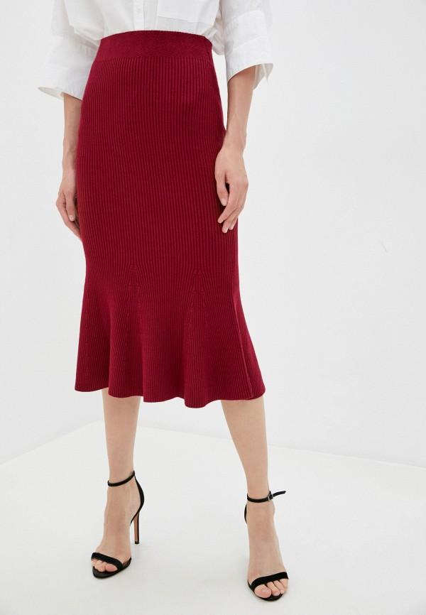женская юбка-трапеции marytes, бордовая