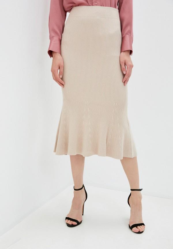 женская юбка-трапеции marytes, бежевая