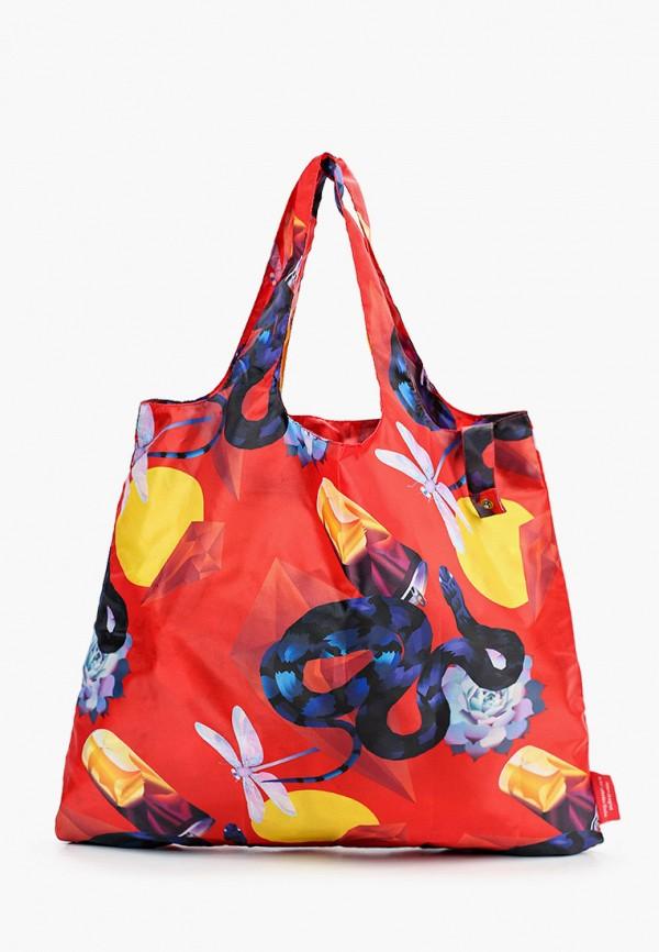 женская сумка-шоперы routemark, красная