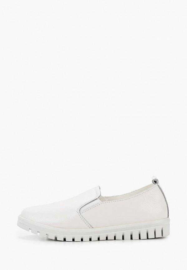 женские низкие слипоны zenden comfort, белые