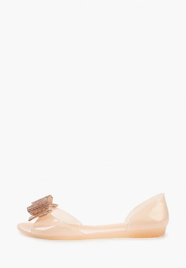 женские балетки с открытым носом brazi, розовые