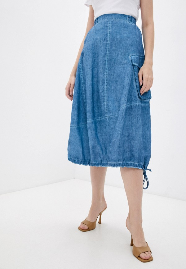 женская юбка-трапеции agenda, бирюзовая