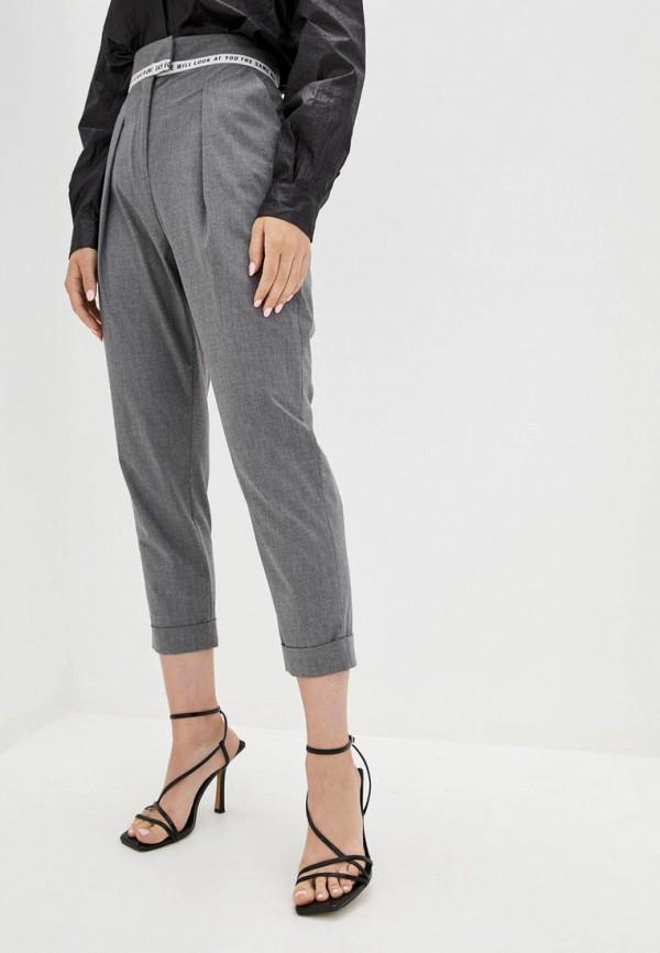 женские повседневные брюки frankie morello, серые