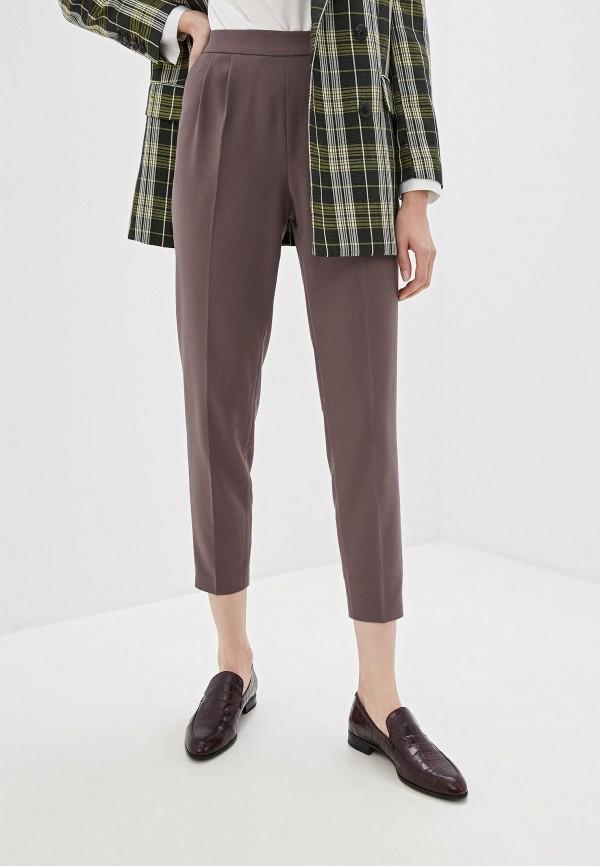 женские брюки vilatte, коричневые