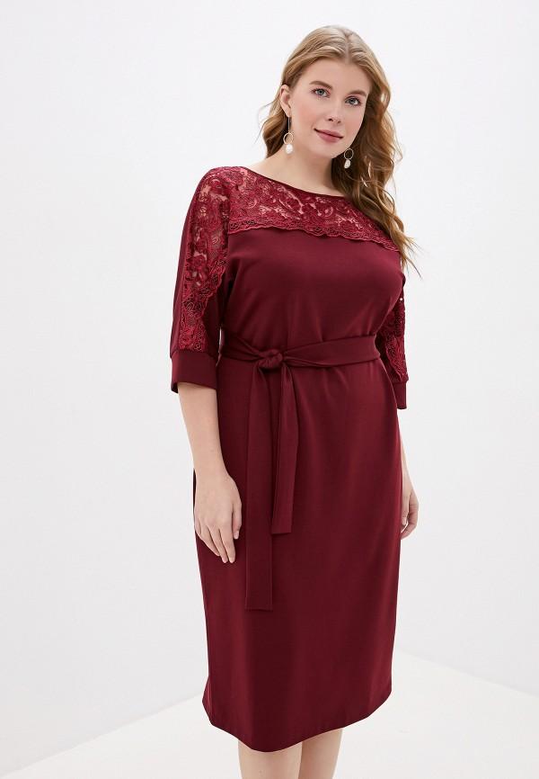 женское платье mankato, бордовое