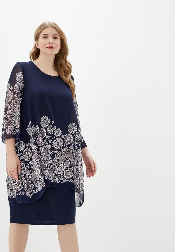 женское платье malena, синее