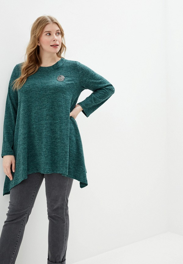 женская туника malena, зеленая