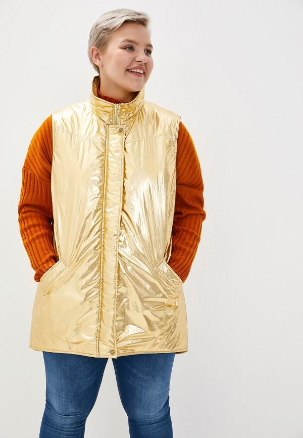 Жилет утепленный Авантюра Plus Size Fashion Авантюра Plus Size Fashion MP002XW11WT8 plus size sheer lace trim ruched top