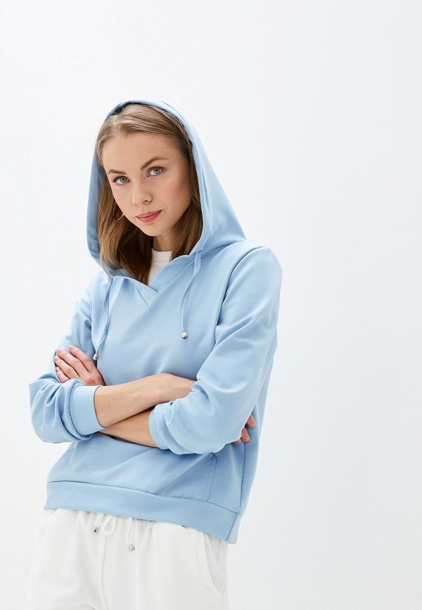женские худи malaeva, голубые