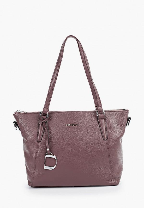 женская сумка dino ricci, фиолетовая