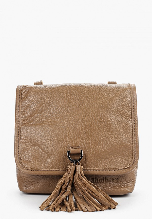 женская сумка shoiberg, бежевая