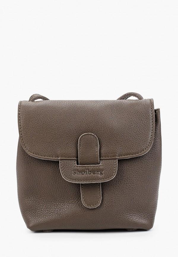 женская сумка shoiberg, коричневая