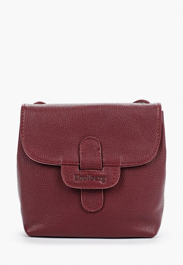 женская сумка shoiberg, бордовая