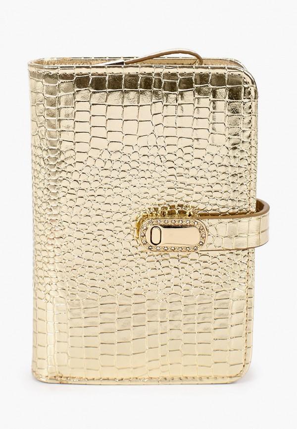 женский кошелёк dino ricci, золотой