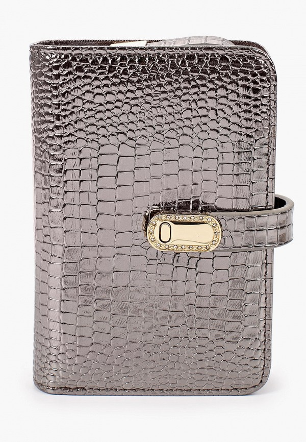 женский кошелёк dino ricci, серебряный